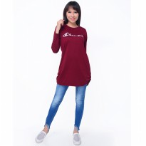 Kaos Tshirt Tangan Panjang Wanita Model Terbaru - Jfashion Cheerful