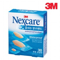 Nexcare Waterproof breathing transparent band 30 pieces mixed water resistant adhesive plaster bandages band band band hygiene