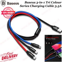 Baseus 3in1 (Micro - Lightning - Type C) Tri Colour Series Charging Cable 3.5A ORIGINAL