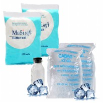 Gabag Ice Gel Pack Menjaga Suhu Cooler Bag Agar Tetap Dingin 500Gram / 2 PACK Medisoft Cotton Ball
