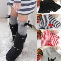 Cute One Pair Baby Kid Children Leg Warmers Bowknot Cotton Stockings