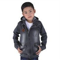 Catenzo Junior Jaket Denim Anak CBEx100 Abu