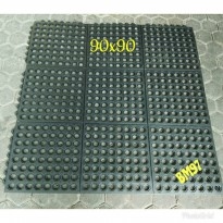 Keset karpet lantai karet bolong anti slip/rubber mat softlock 90x90cm