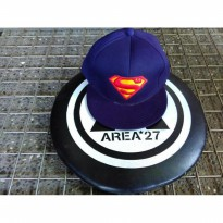 topi snapback bordir superman hat0227009