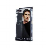 GT man Oblong TGSV V neck hitam - 3 pcs