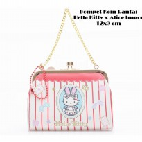Hello Kitty Dompet Koin Hello Kitty X ALice Rantai Sanrio License Import