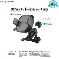 [POP UP] RAVPower RP-SH008 Car Holder with  5W Wireless Charger 5W Iphone 5W Android-Black