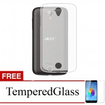 Case for Acer Z520 - Clear + Gratis Tempered Glass - Ultra Thin Soft Case