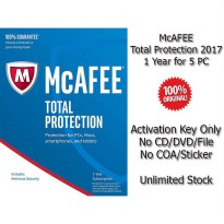 McAFEE Total Protection 2017 - 1 Year for 5 PC - Genuine