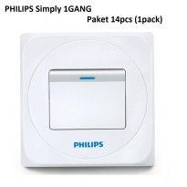 PHILIPS Simply 1 Gang - Paket isi 14bh