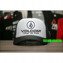 [JersiClothing] Topi Trucker Volcom True To This - Hitam Putih