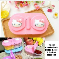 Hello Kitty Food Container Toples Hello Kitty 2 Sekat Impor
