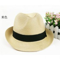 jto023 topi pantai jazz wanita Korean Hot straw hat jazz hat beach