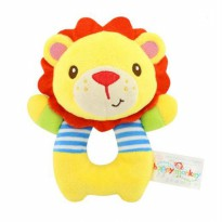Mainan Bayi Rattle Donat Happy Monkey Lion