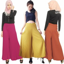 Pleated Culotte Pants - Kulot Lipit Panjang - 9 warna - fit up to XL