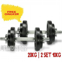 BARBEL DUMBBELL 20KG - 2 SET 10KG