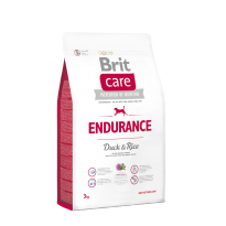 Brit Care - Endurance Duck & Rice 3 kg. Super Premium, Hypoallergenic Formula for Active Dogs.
