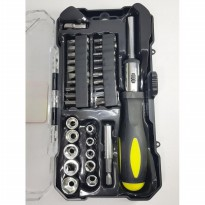 Kenmaster Kunci Sok 33 Pcs - Screwdriver Socket Wrench