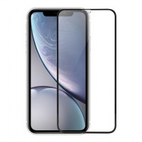 Robot For iphone Xr 2.5D Border Glue full Screen Tempered Glas Phone B;ack