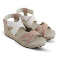 Sandal Wanita/Wedges/Sandal CasualJk Collection JDO 6401 Krem