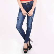PAKET 4 EGOIST Celana Jeans Ripped Blue Denim 1121514