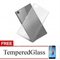 Case for Infinix Hot 4 / X557 - Clear + Gratis Tempered Glass - Ultra Thin Soft Case