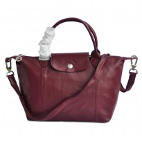 AUTHENTIC LONGCHAMP LE PLIAGE CUIR SMALL ORIGINAL - MAROON