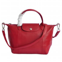 AUTHENTIC LONGCHAMP LE PLIAGE CUIR SMALL ORIGINAL - RED