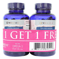(POP UP AIA) Wellness Omega 3 1000 MG (75 Softgels)