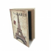 Vintage Book Safety Box Storage Brankas Buku Antik LARGE - Eiffel