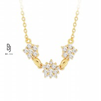BE.JUU Kalung Love Blossoming Gold Korean Jewelry
