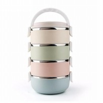 LUNCH BOX 4 LAYER STAINLESS STEEL - RANTANG GLOSSY