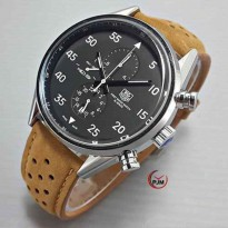 TAG HUER AUTOMATIC CHRONO ON BROWN COVER BLACK - Jam Tangan AUTOMATIC