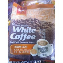 Super White Coffee Charcoal Roasted Brown Sugar dan Super Hazelnut Kopi Putih Panggang @15sachet