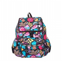 Tas Backpack Import Authentic Lesportsac Voyager Backpack - Fungi