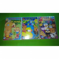 Set 3pc CD Game Belajar anak Petualangan bebi di hutan 8in1 logika