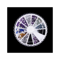 HO1551 - Nail Art DIY Acrylic Drill Wheel Hiasan Kuku Rainbow
