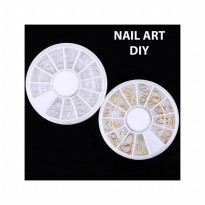 HO1553W - Nail Art DIY Acrylic Drill Wheel Hiasan Kuku Metal