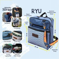 Gabag RYU Cooler Bag Tas Asi - FREE 2 Ice Gel