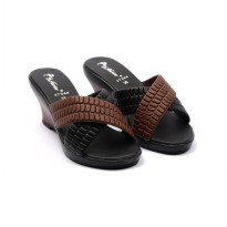 Dr.Kevin Women Wedges Sandals 27344 Black/Brown