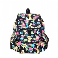Tas Backpack Import Authentic Lesportsac Voyager Backpack - Human Pattern