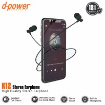 [POP UP] dpower K12 Stereo Earphone - Black