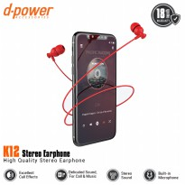 [POP UP] dpower K12 Stereo Earphone - Red
