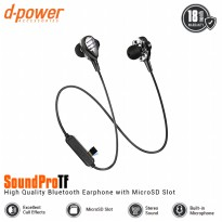 [POP UP] dpower SOUNDPROTF Bluetooth Earphone Dual Driver With Slot Memory Card