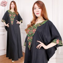 Glow fashion Dress maxi panjang gamis kaftan wanita jumbo long dress Witri