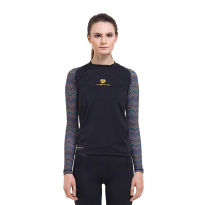 Tiento Baselayer Compression Long Sleeve Black Forest Pattern Original