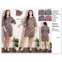 Vira Bigsize Dress Batik Jumbo Dress Batik Big size Baju Terusan 344