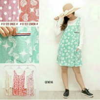Overall + inner pastel colours cute and cheerfull