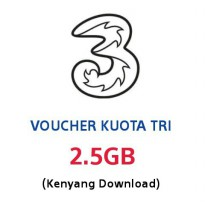 VOUCHER KUOTA TRI KENYANG DOWNLOAD 2.5GB (2G/3G/4G)