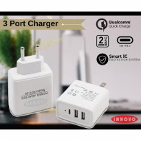 (POP UP) INNOVO CHARGER ADAPTOR FAST CHARGING 3.1 A With Type C - SDV30